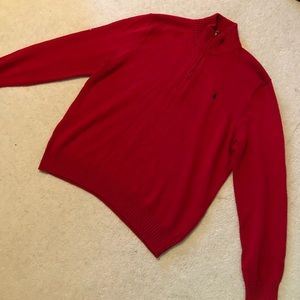 Red Polo Quarter-Zip Pull Over
